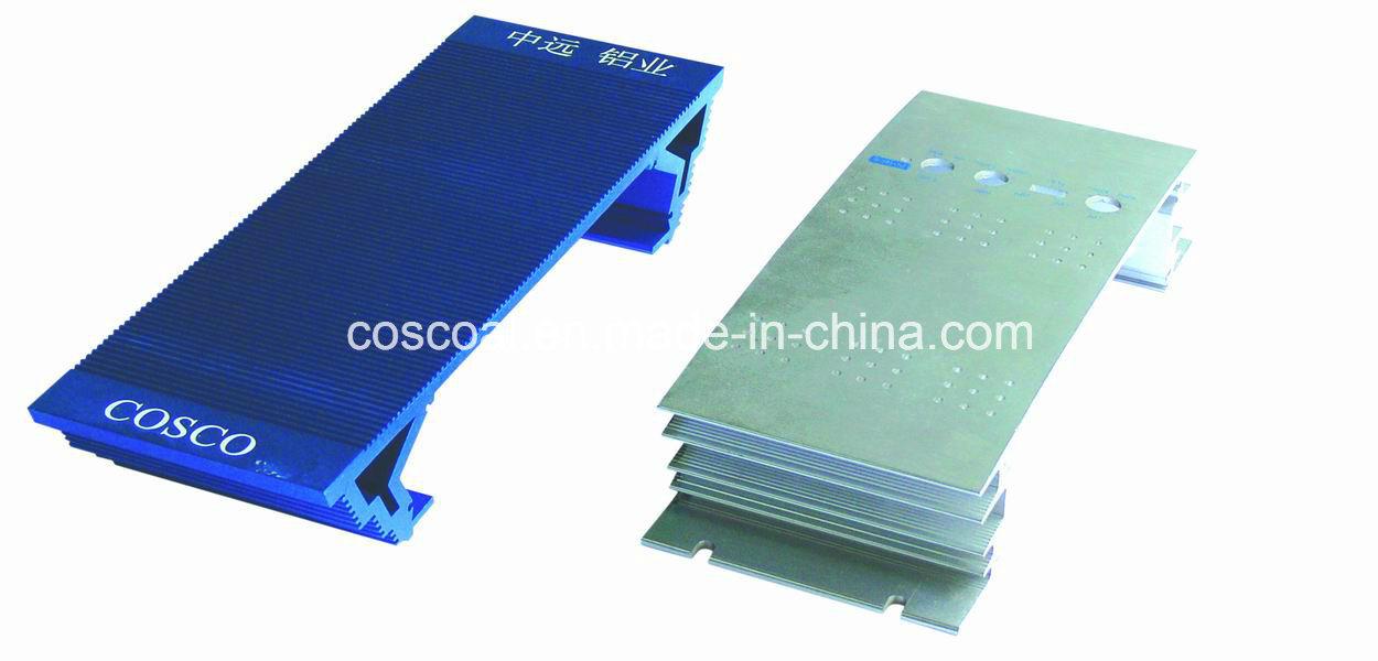 Aluminum/Aluminium Extrusion for Car Amplifier Enclosure with ISO9001 Certificated