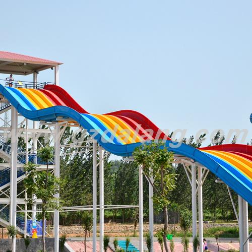 Rainbow Water Slide with Slip Carpet