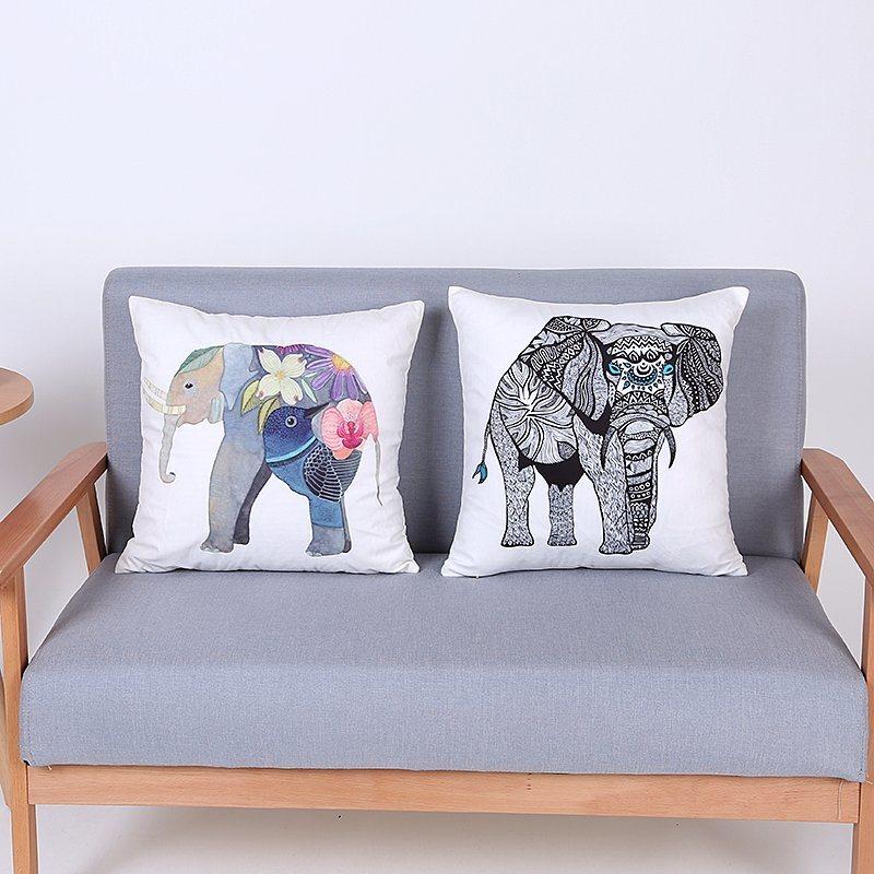 Digital Print Decorative Cushion/Pillow with Elephant Pattern (MX-98)