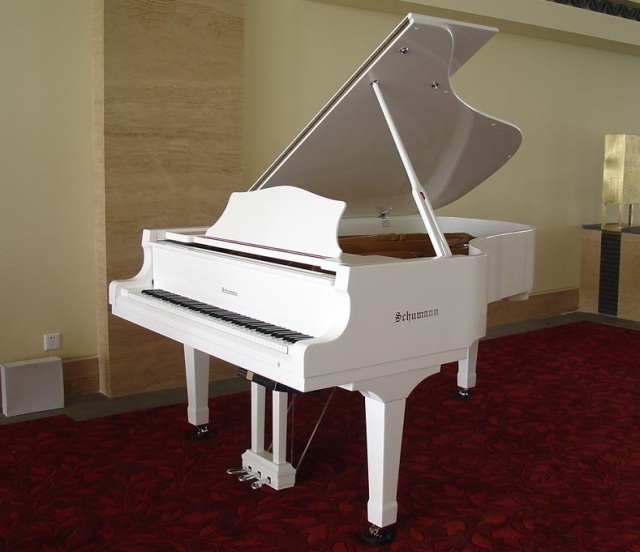 Schumann (GP-186) White Grand Piano Musical Instruments