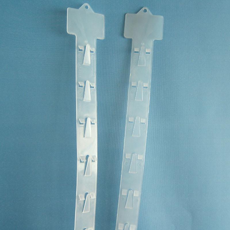 Supermarket PP Hanging Hook Strip Plastic Clip Strip