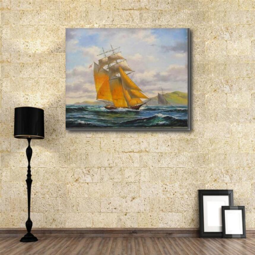 Wall Painting of Sailing Ship