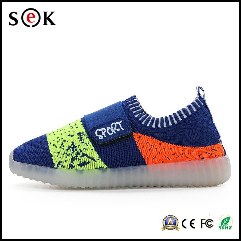Sport Light up Shoe Children LED Light Running Shoes for Kids