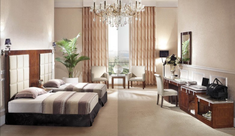 Contemporary bed set - Images Of Hotel Double Standard Room Modern Style Fabric Headboard And