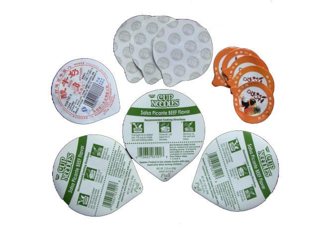 Aluminum Foil Paper Bowl Lid for Instant Noodle
