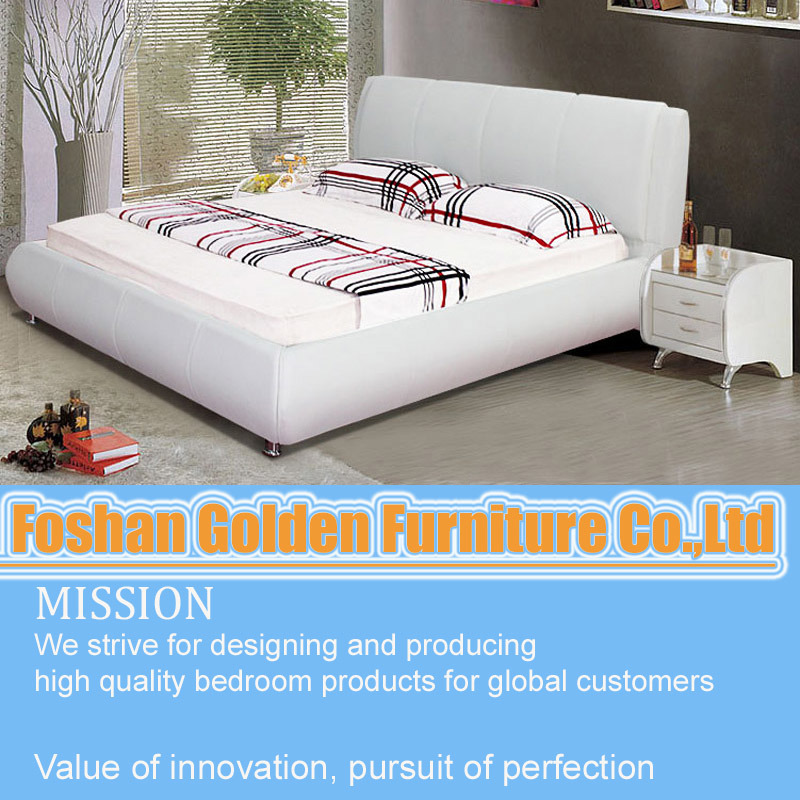 China white laminate bedroom furniture plywood double bed for Bedroom designs plywood