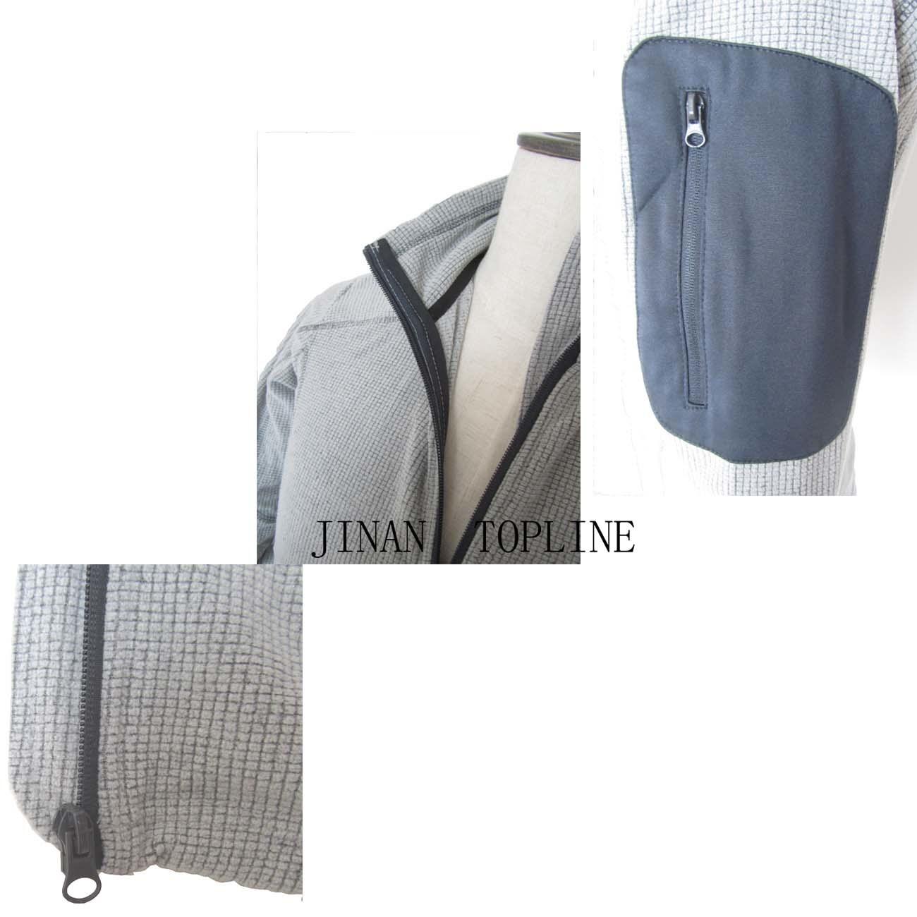 Men Spring/Autumn Micro Fleece Stitching-Color Leisure Jacket
