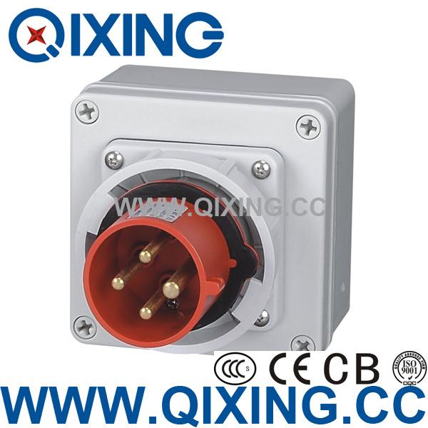 Panel Mounted Plug with Waterproof Box for Customer-Make