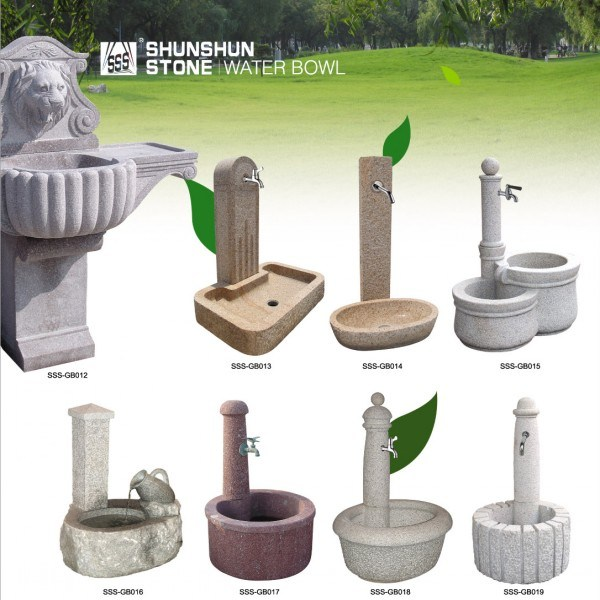Granite Garden Outdoor Stone Fountain for Derocation