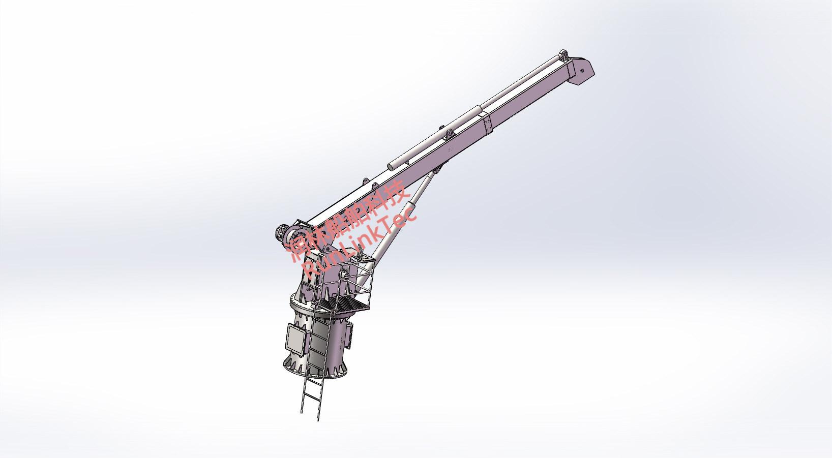 Marine General Crane Telescopic Knuckle