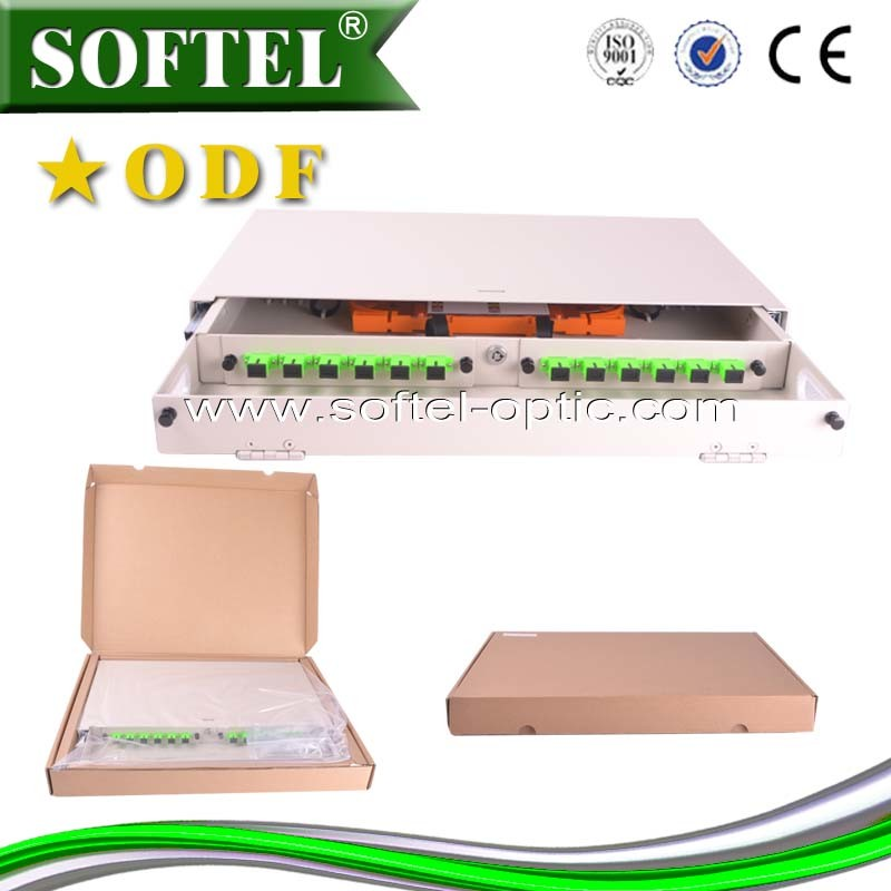 24 Core Optical Distribution Frame Patch Panel for Cabling