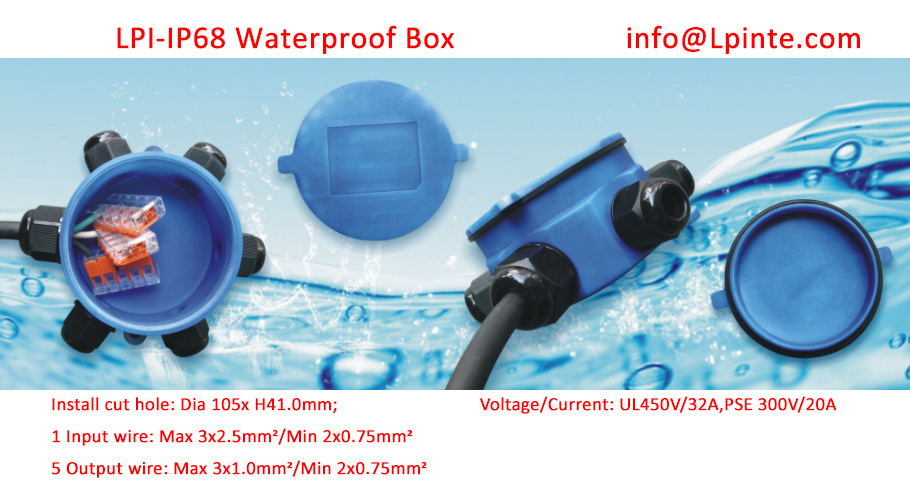 Waterproof Junction Box IP68 Cable Wire Box