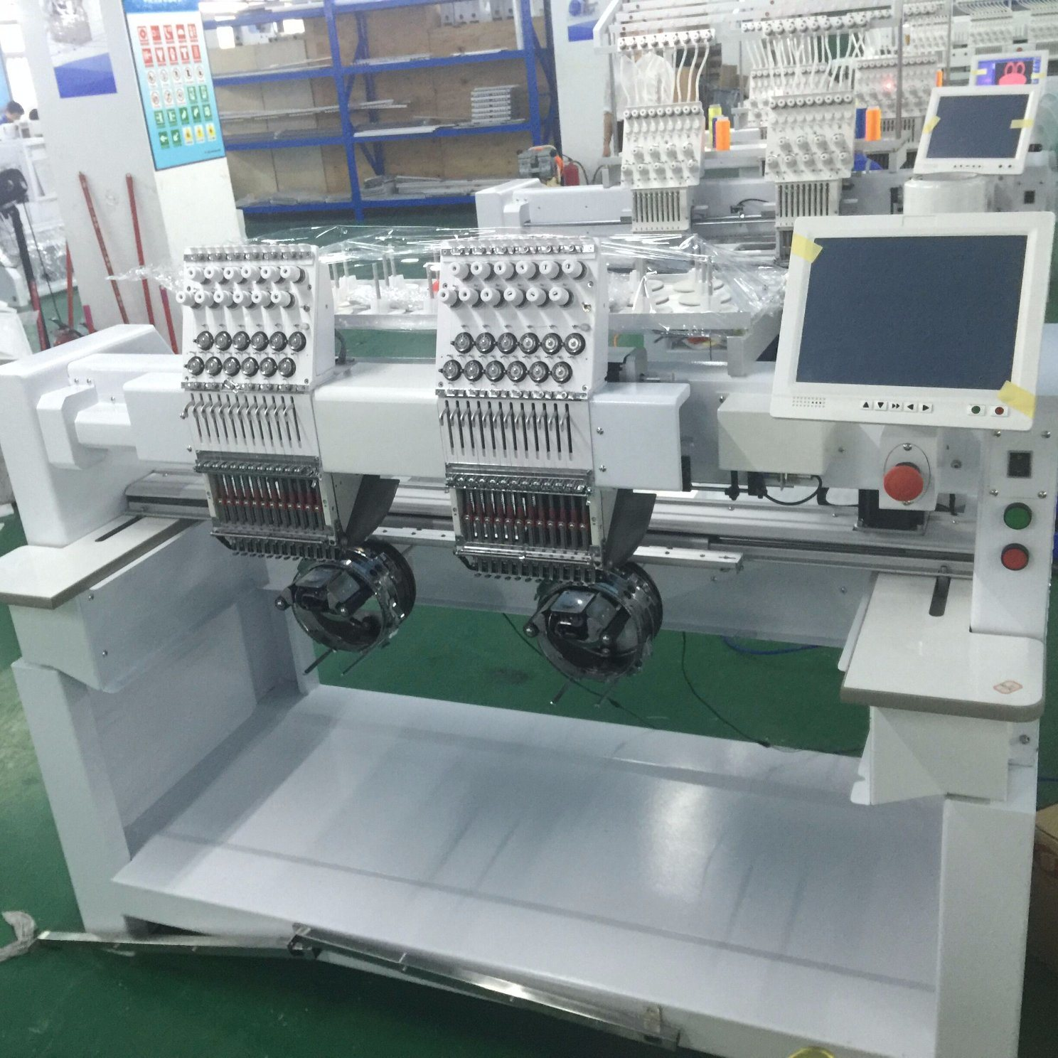 2 Head Computerized Embroidery Machine for Cap and T-Shirt School Uniform