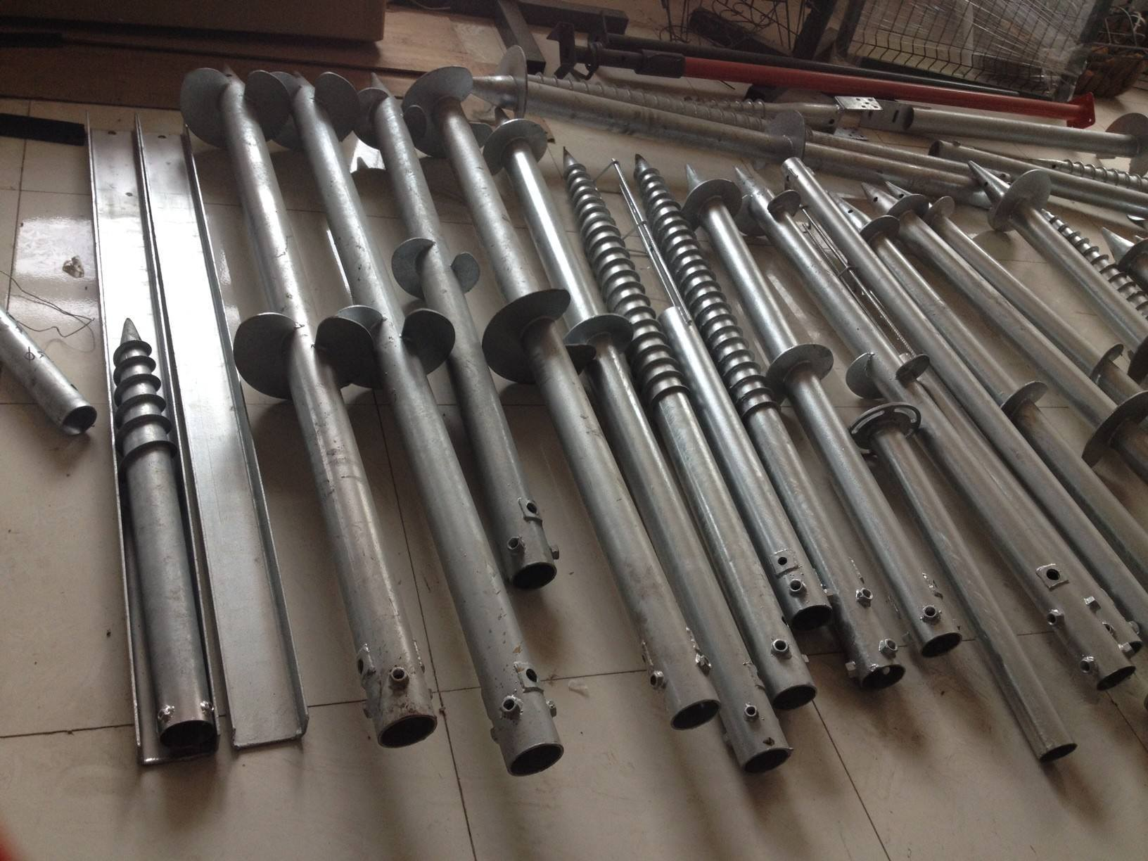 Hot Dipped Galvanized Ground Screw Pole Anchor, Earth Screws 4-40