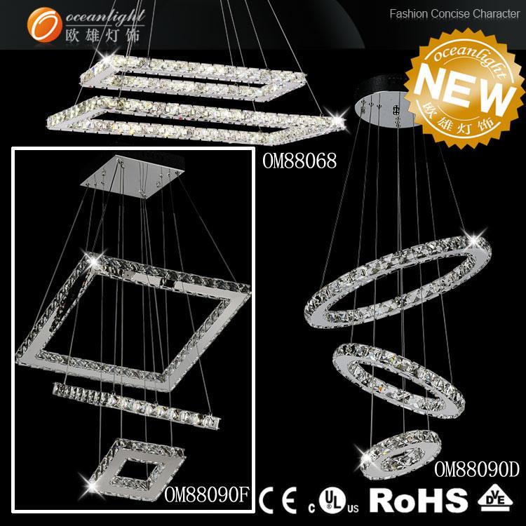 Hotel Crystal Residential Chandelier Lighting, Ceiling Lamp, Crystal Ceiling Light (OM711)