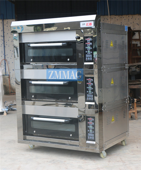 Bread Making Machine Electric Deck Oven for Bread with Steam (ZMC-309D)