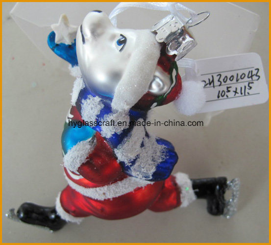 Boutique Dog Glass Craft for Christmas Decoration