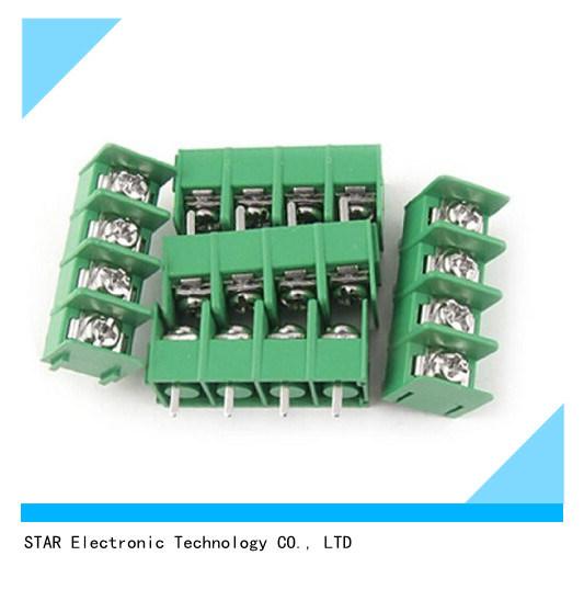 4 Pin 5mm 7.62mm Pitch 300V 10A PCB Green Terminal Block