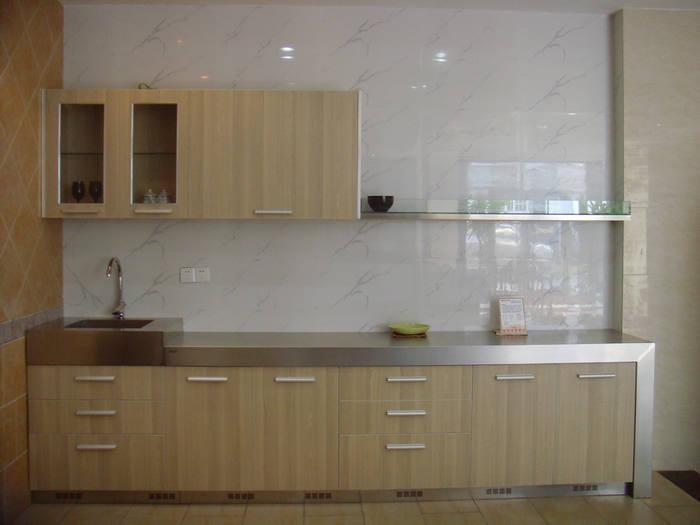 China economical simple melamine kitchen designs va1201 for Economic kitchen designs