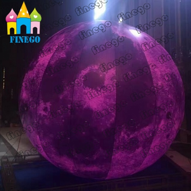 Finego Giant Air Lighting Moon Balloon Ball Inflatable LED Mars for Park Decoration