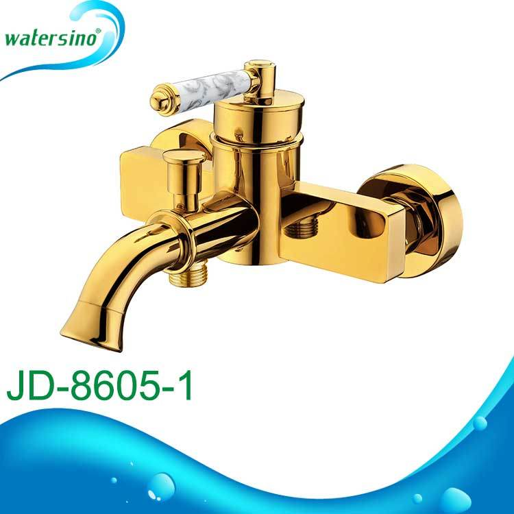 Bathroom Luxurious Bath Tapwares Gold-Plated Shower Mixer
