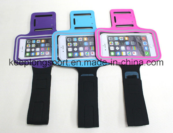 2016 New Deisgn Fashionable Neoprene +PVC Armband Case for iPhone