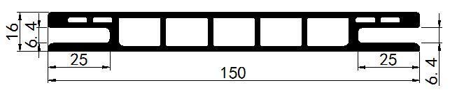 Fire-Resist High-Tech Material WPC Window Frame (P-150)