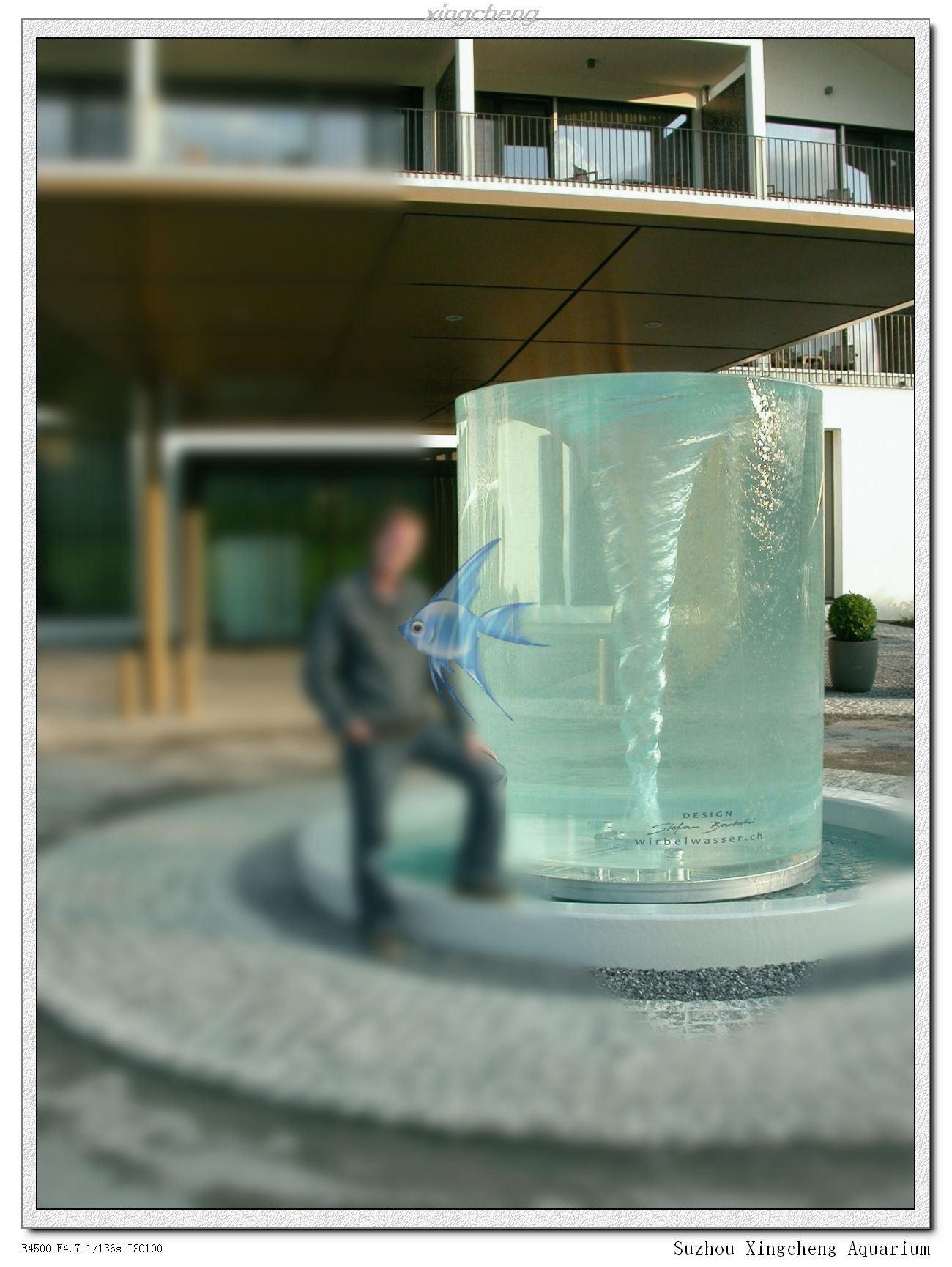 Aquarium fish tank china - Cylinder Fisht Tank Fish Aquarium