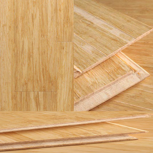 Natural Color Bamboo Strand Woven Flooring