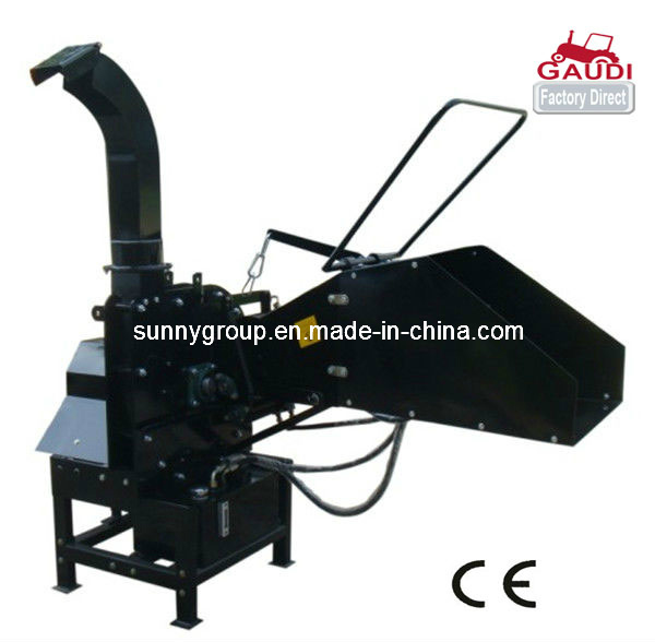 CE Approved Wood Chipper, Hydraulic Feeding System, Double Roller