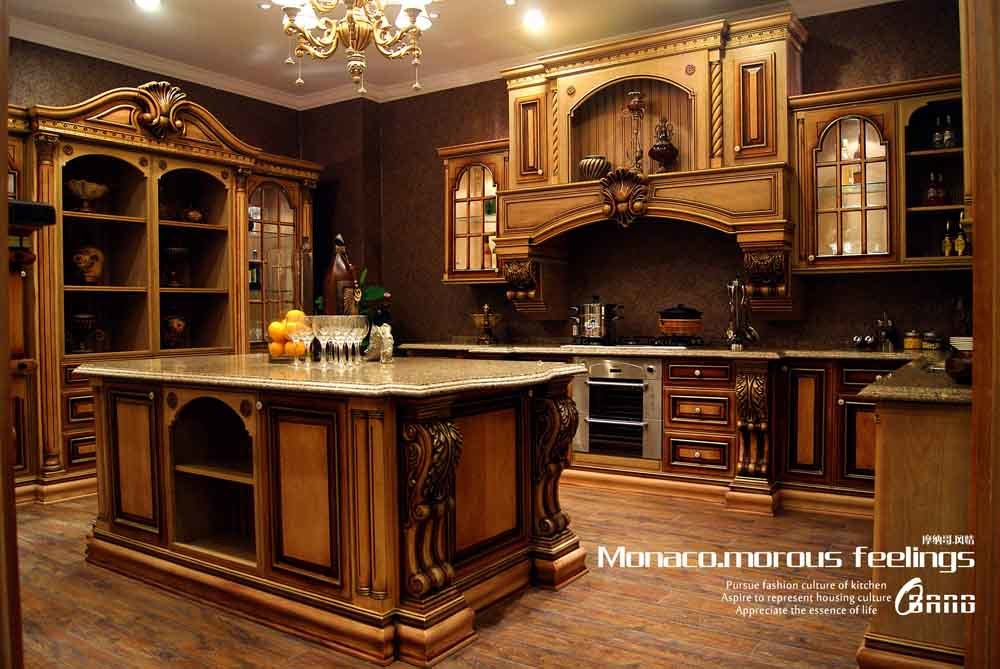 China high end solid wood kitchen cabinet mf kc14 for Upper end kitchen cabinets