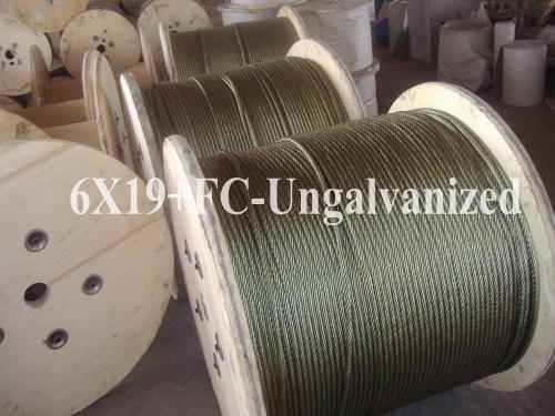 Ungalvanized Steel Wire Rope (6X19+FC)