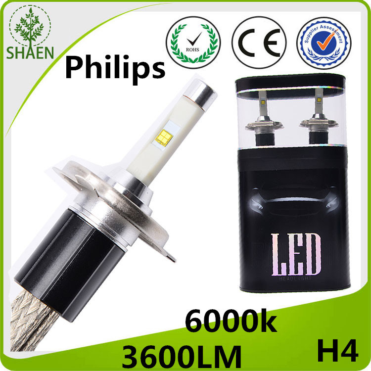Hot Selling! ! ! H4 H/L Philips LED Car Headlight 6000K 30W