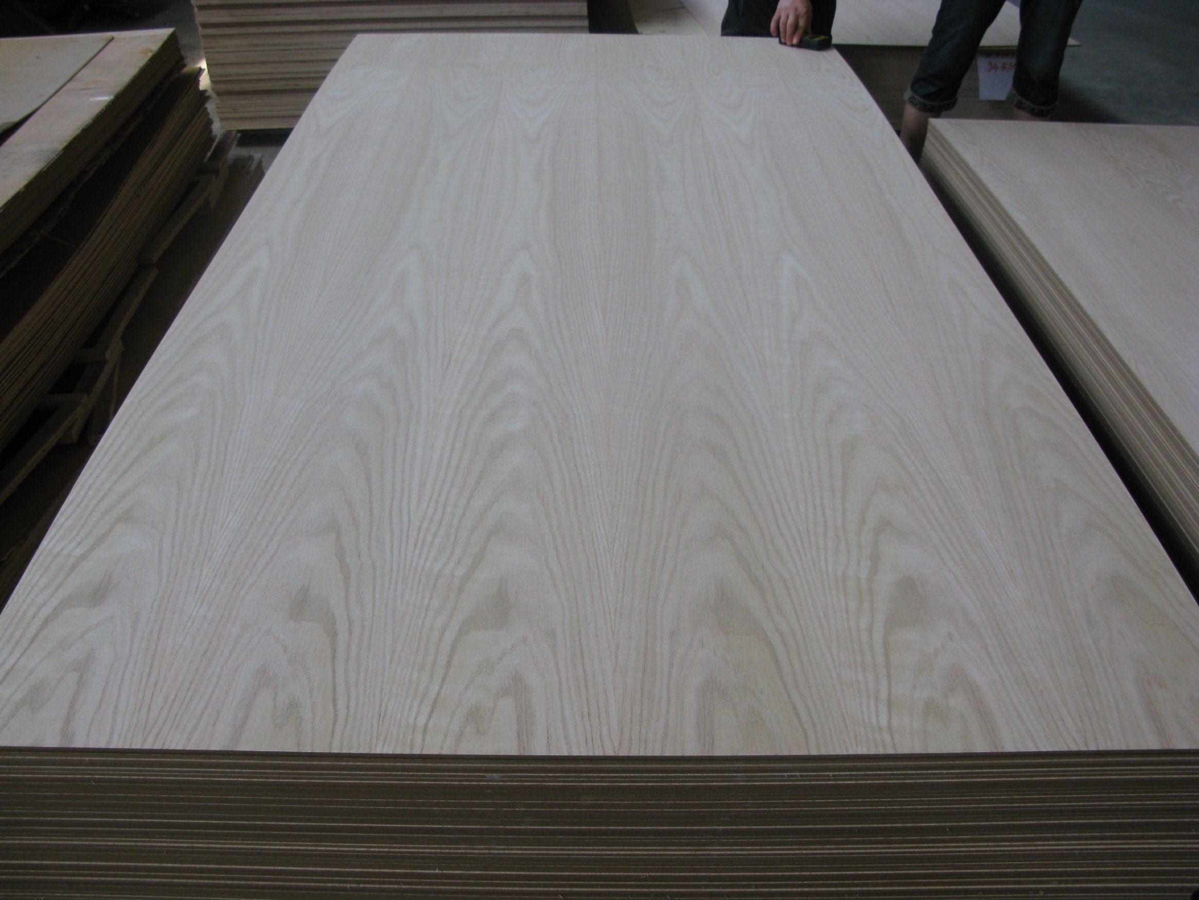 P/S Fancy American Ash Red Oak Plywood 18mm