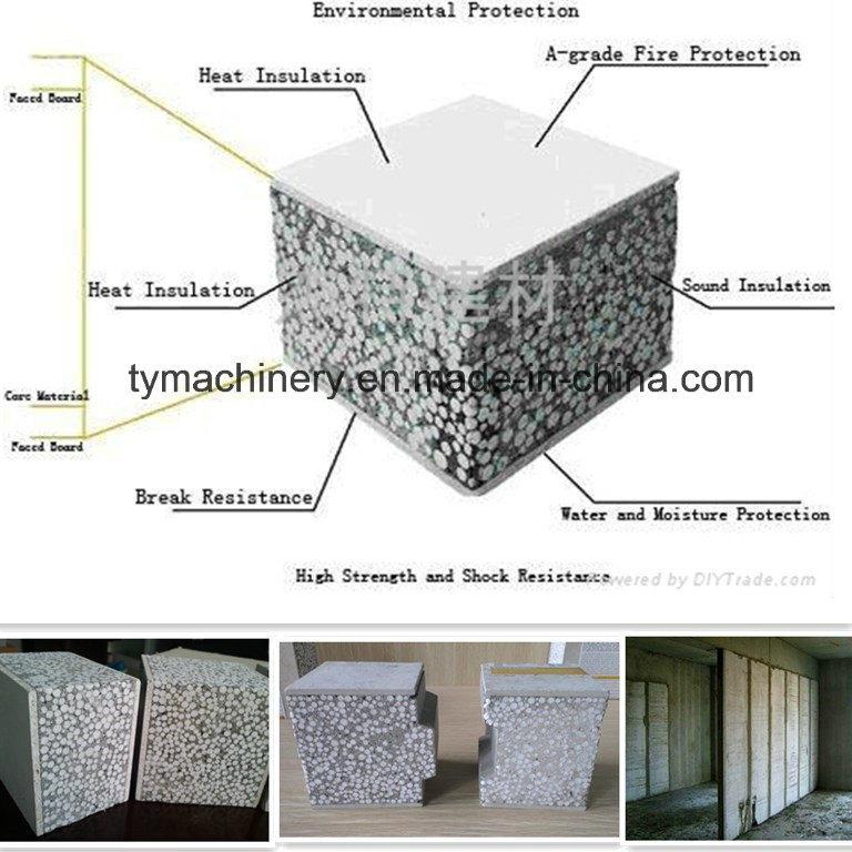 Insulaion Concrete Partition EPS Sandwich Board/Panel Forming Machine/Equipment