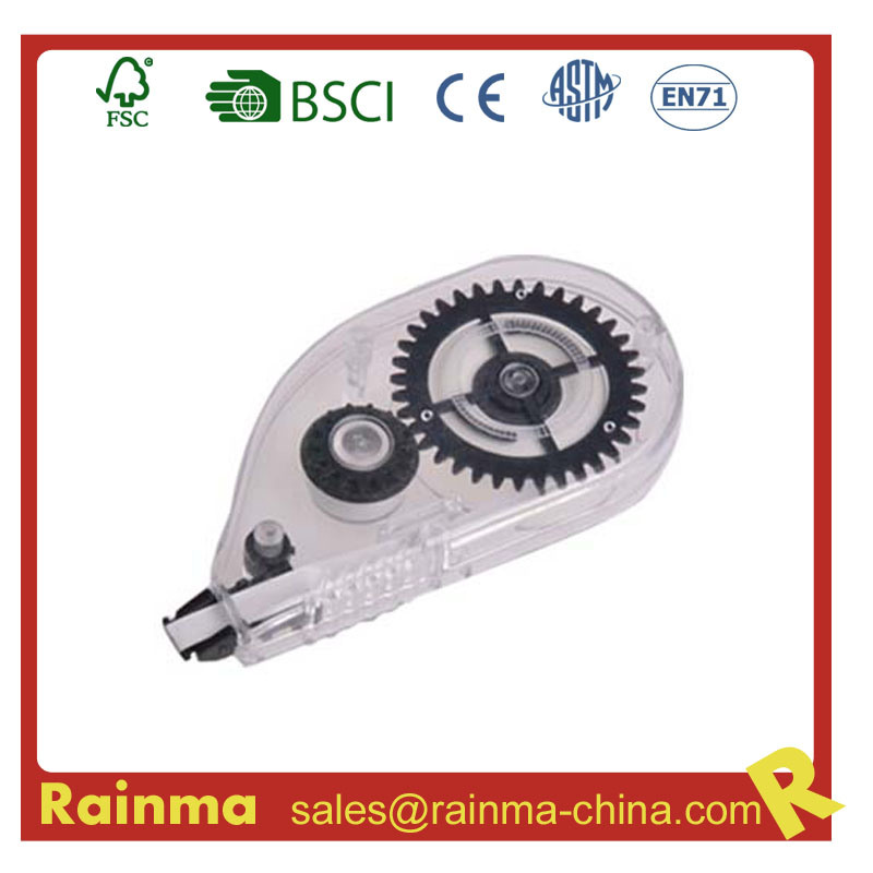 Black Clear Plastic Correction Tape for Offce Supply