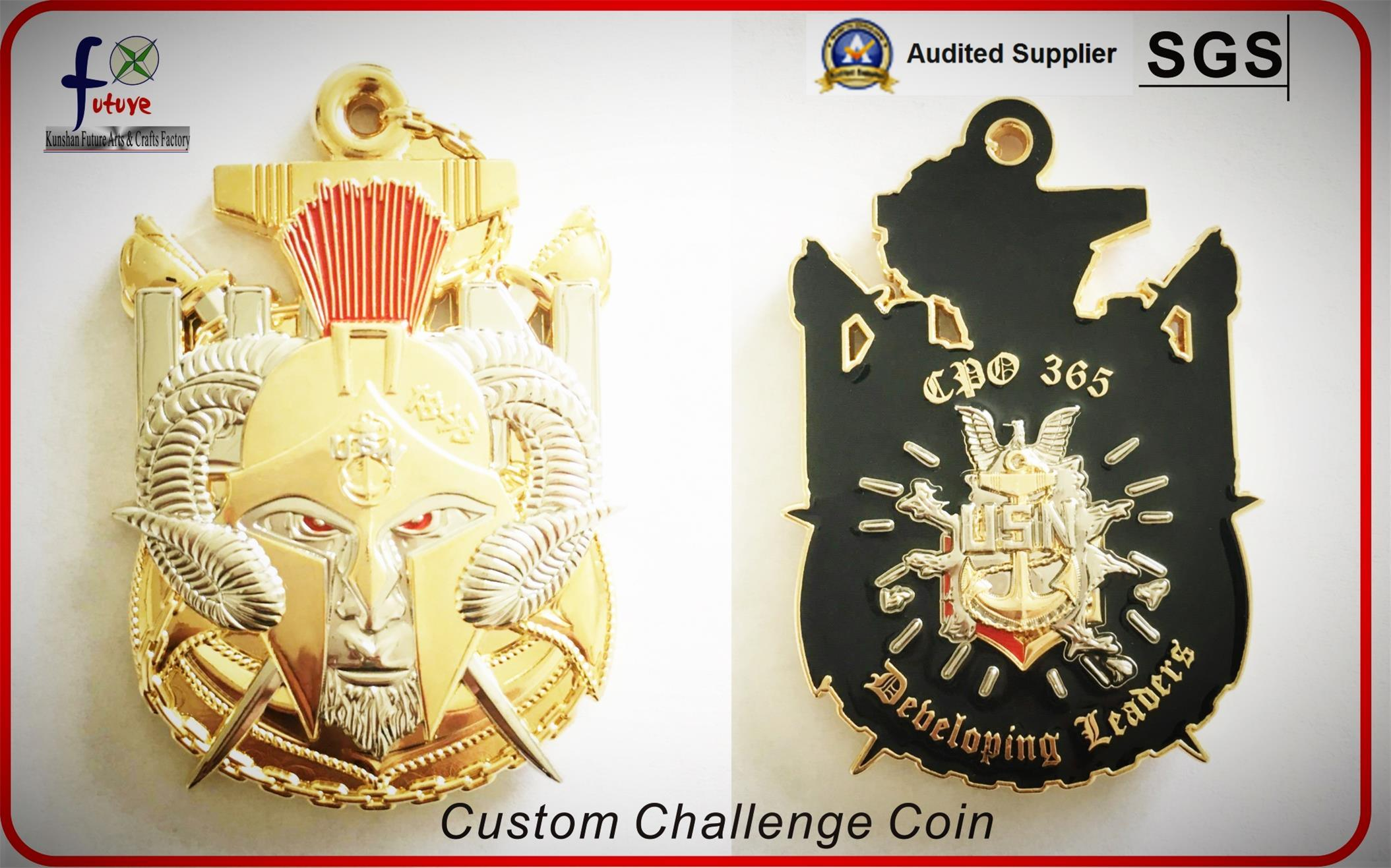 Custom Challenge Coin Usn Coin