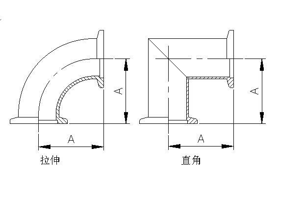 Vacuum Radius Elbow Flange Stainless Steel Elbow