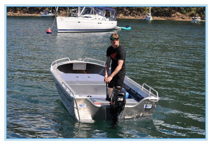 4.5m 15FT Tenvi Basic Aluminum Boat Small Fisherman Motor Boat with CE