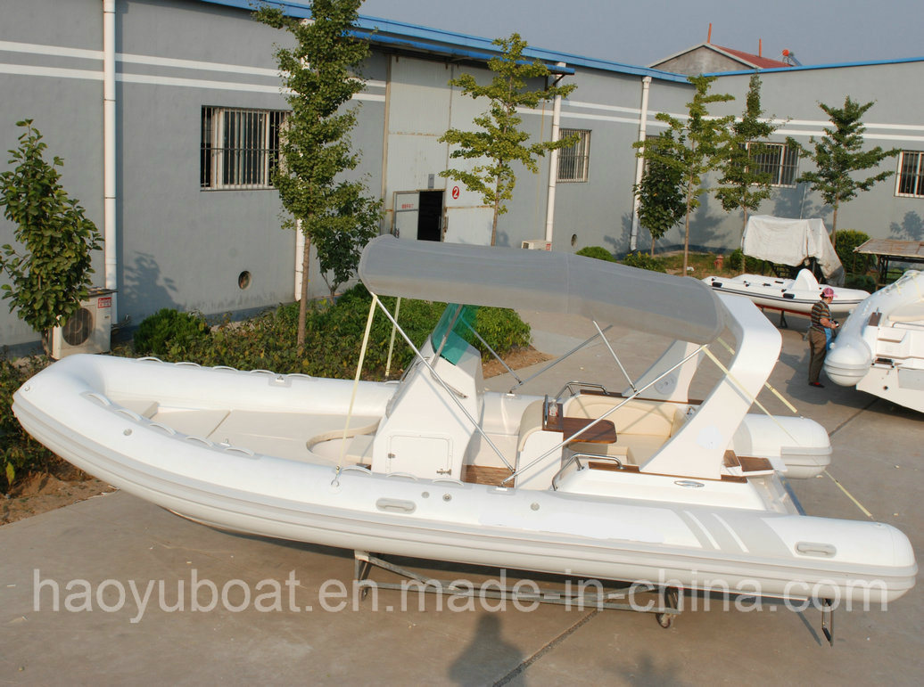 22.3feet 680b Inflatable Rib Boat, Rescure Boat, Fishing Boat, Rigid Hull Boat, PVC and Hypalon
