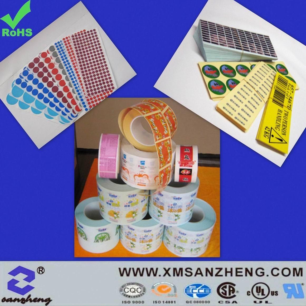 Printing Colorful Self Adhesive Label Sticker (SZ3109)