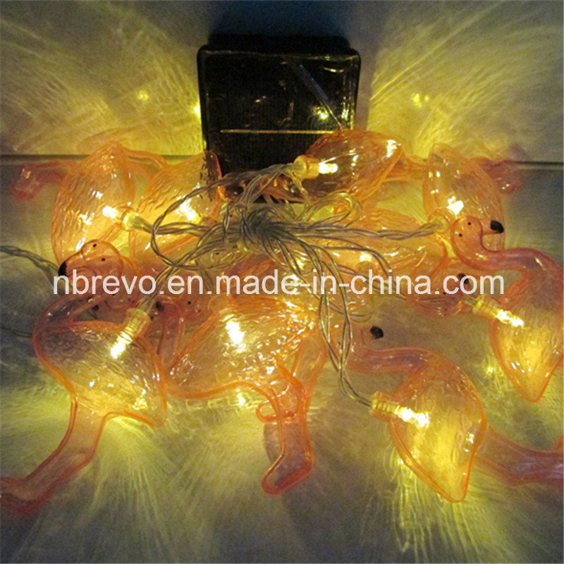 10LED Solar Powered Flamingo String Lights (RS1024A)