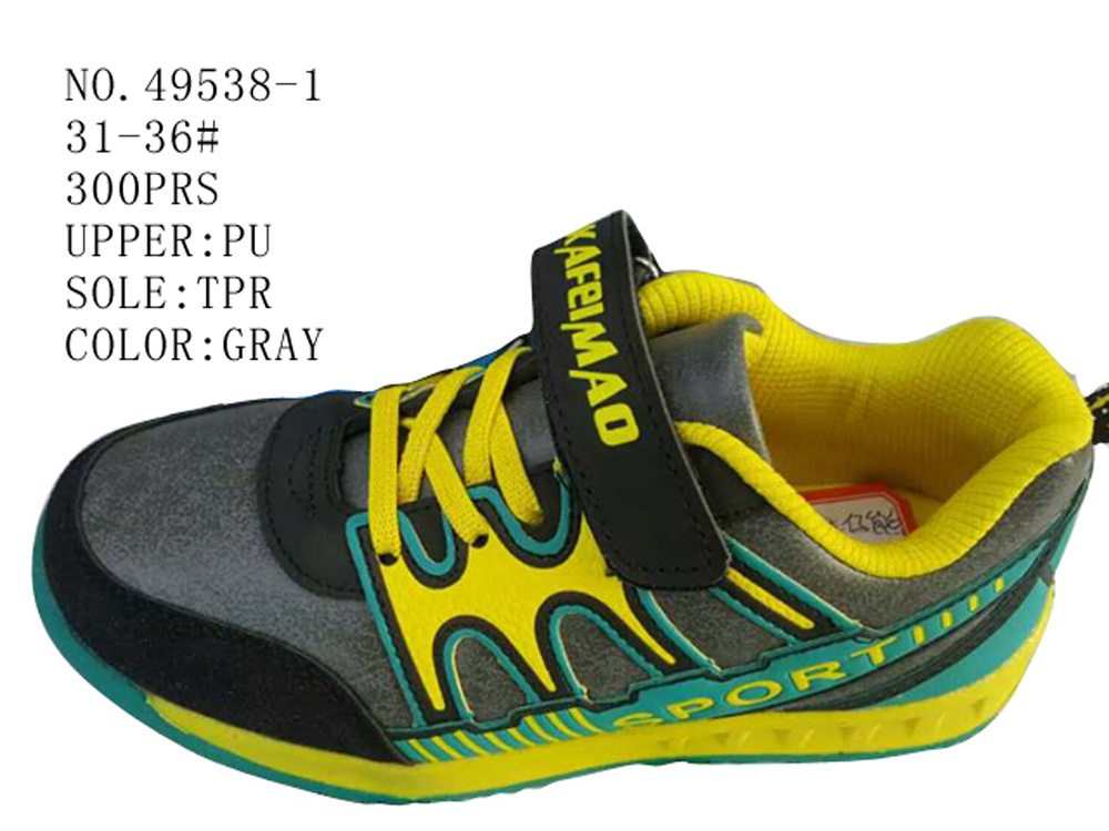 No. 49538 Children Casual Stock Shoes with Magic Tape