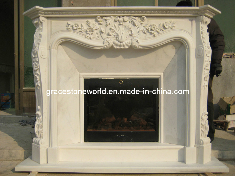 Carved Mantel, Carving Stone Fireplace