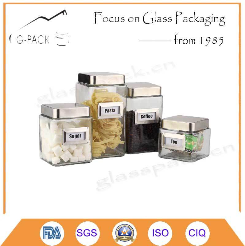 Glass Airtight Jar for Food Storage Purpose