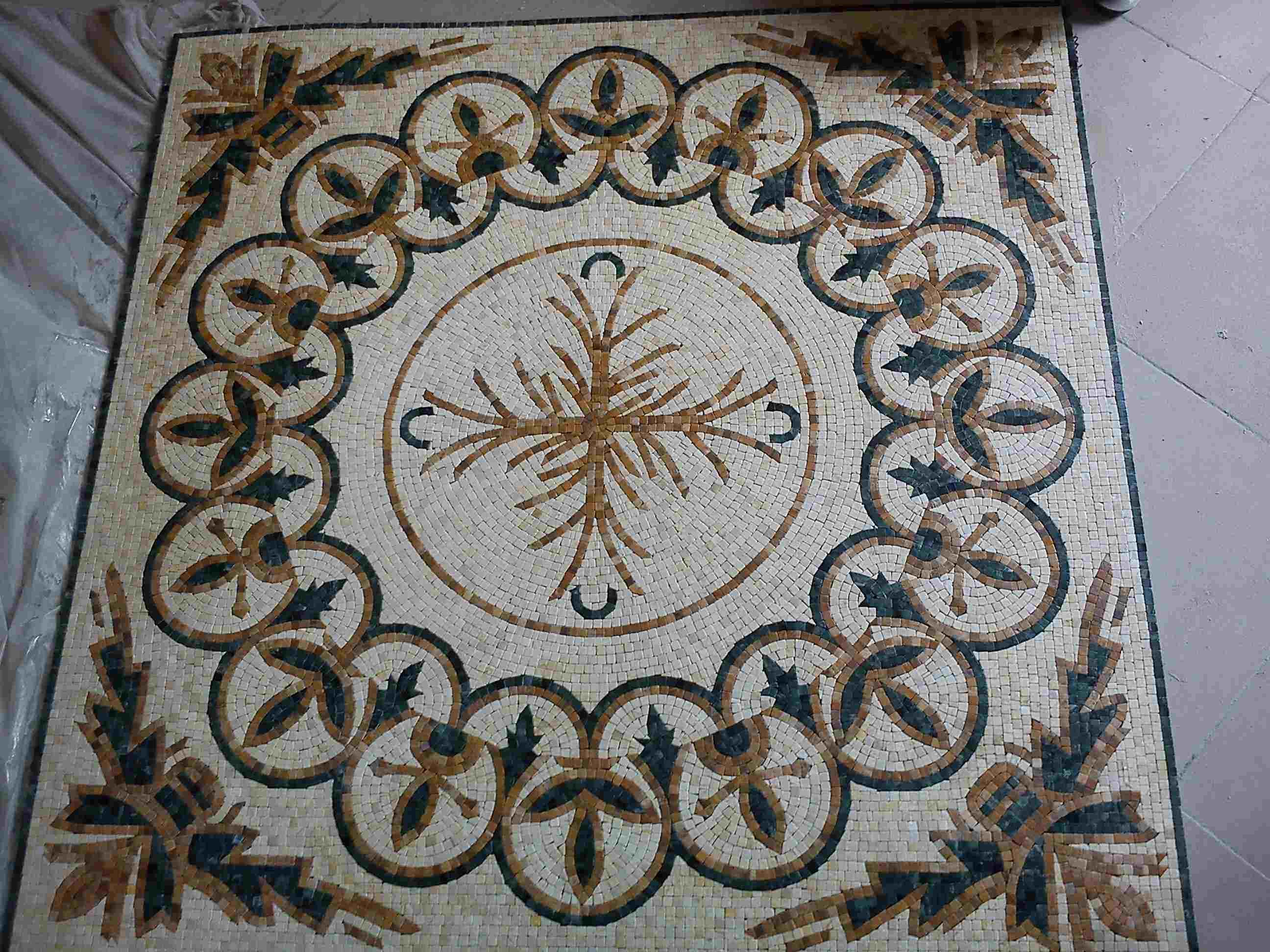 China Floor Carpet Floor Tile Marble Mosaic Design