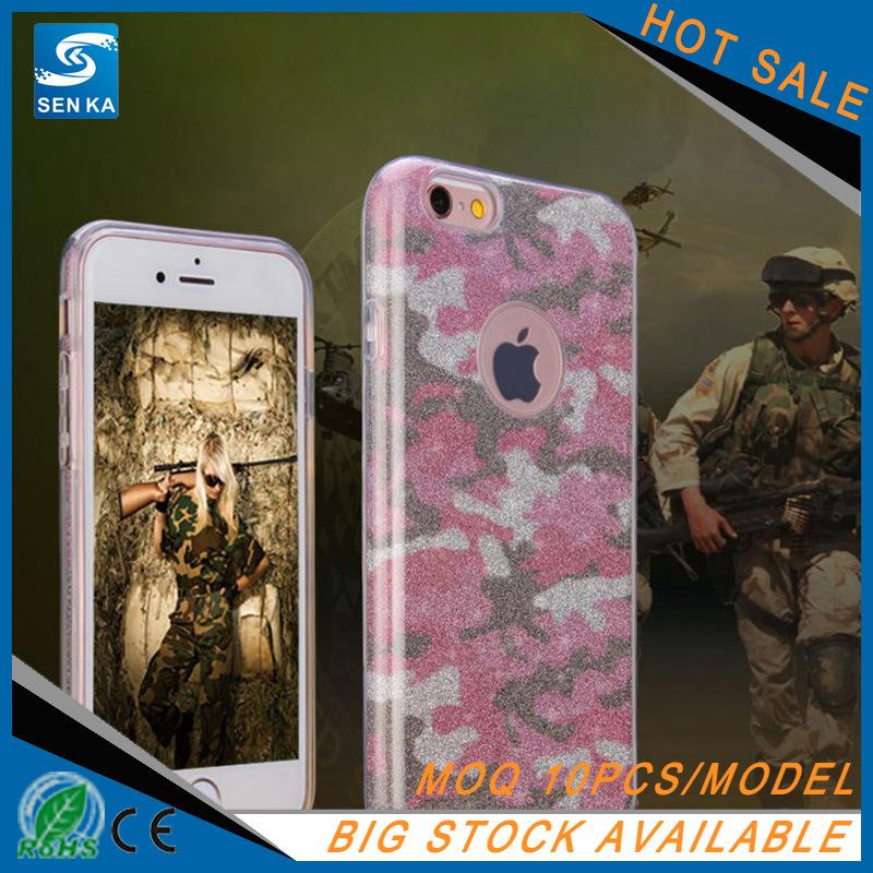 Hot Glitter Powder 3in1 TPU Phone Case for iPhone 7/7plus