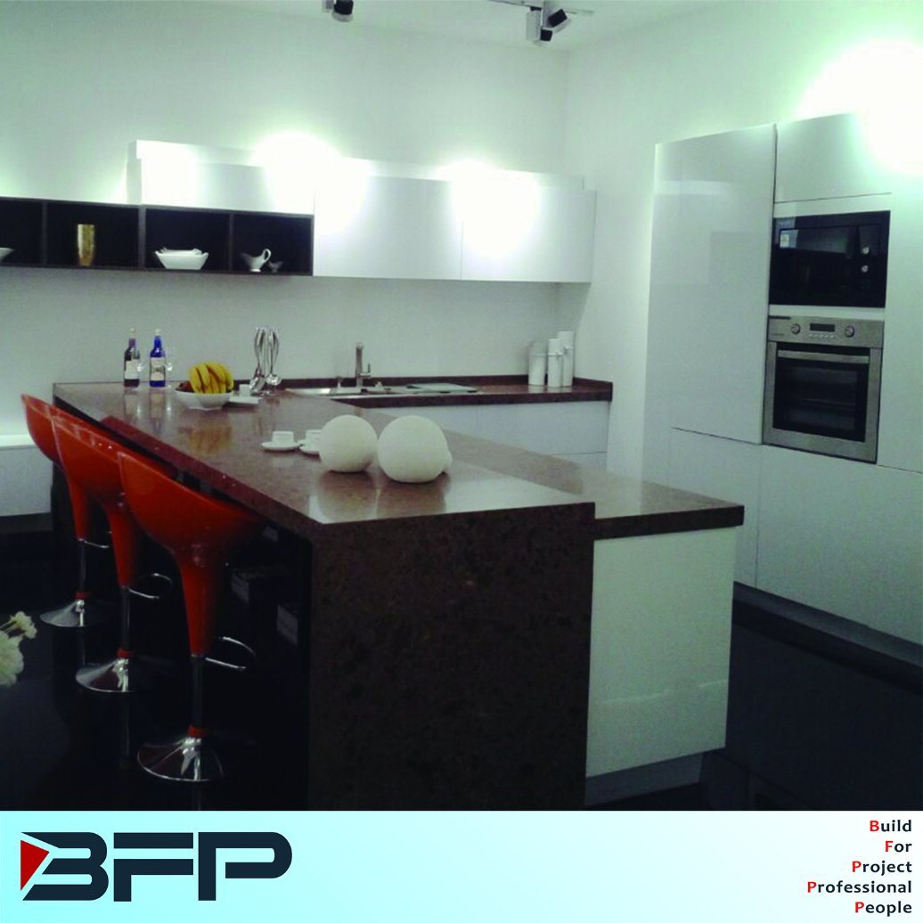China High Glossy Kitchen Joinery with Quartz Countertop BMK-50 ...