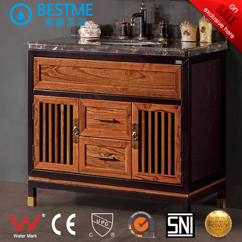 Classical Oak Wooden Bathroom Cabinet (BY-F8080)