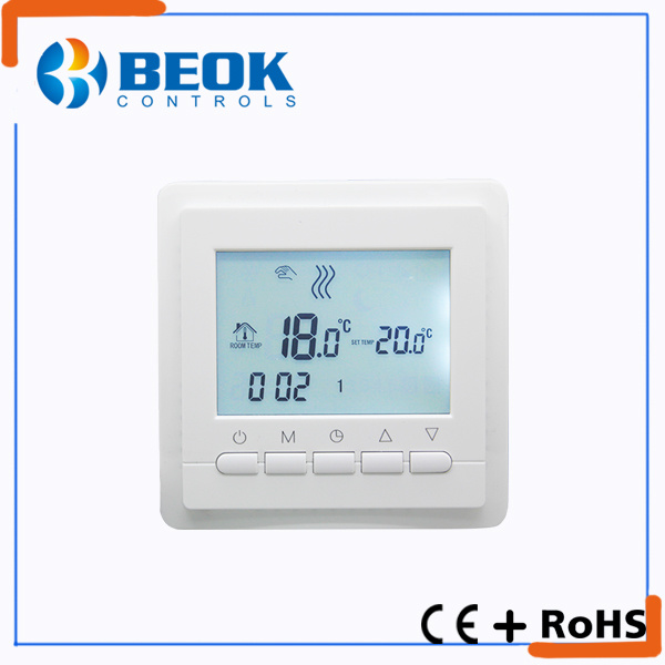Blue Backlight LCD Display Floor Heating Thermostat (TOL43-EP)